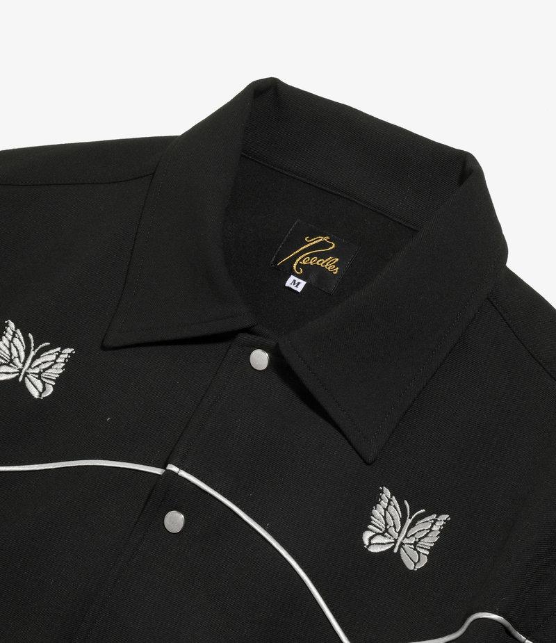 Needles Piping Cowboy Jacket - Pe/R/Pu Twill - Black