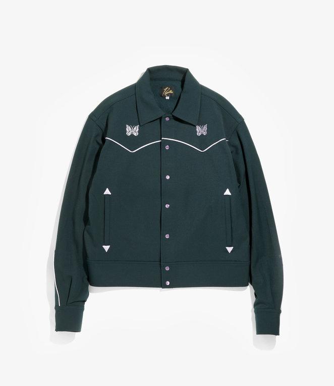 Needles Piping Cowboy Jacket - Pe/R/Pu Twill - Green