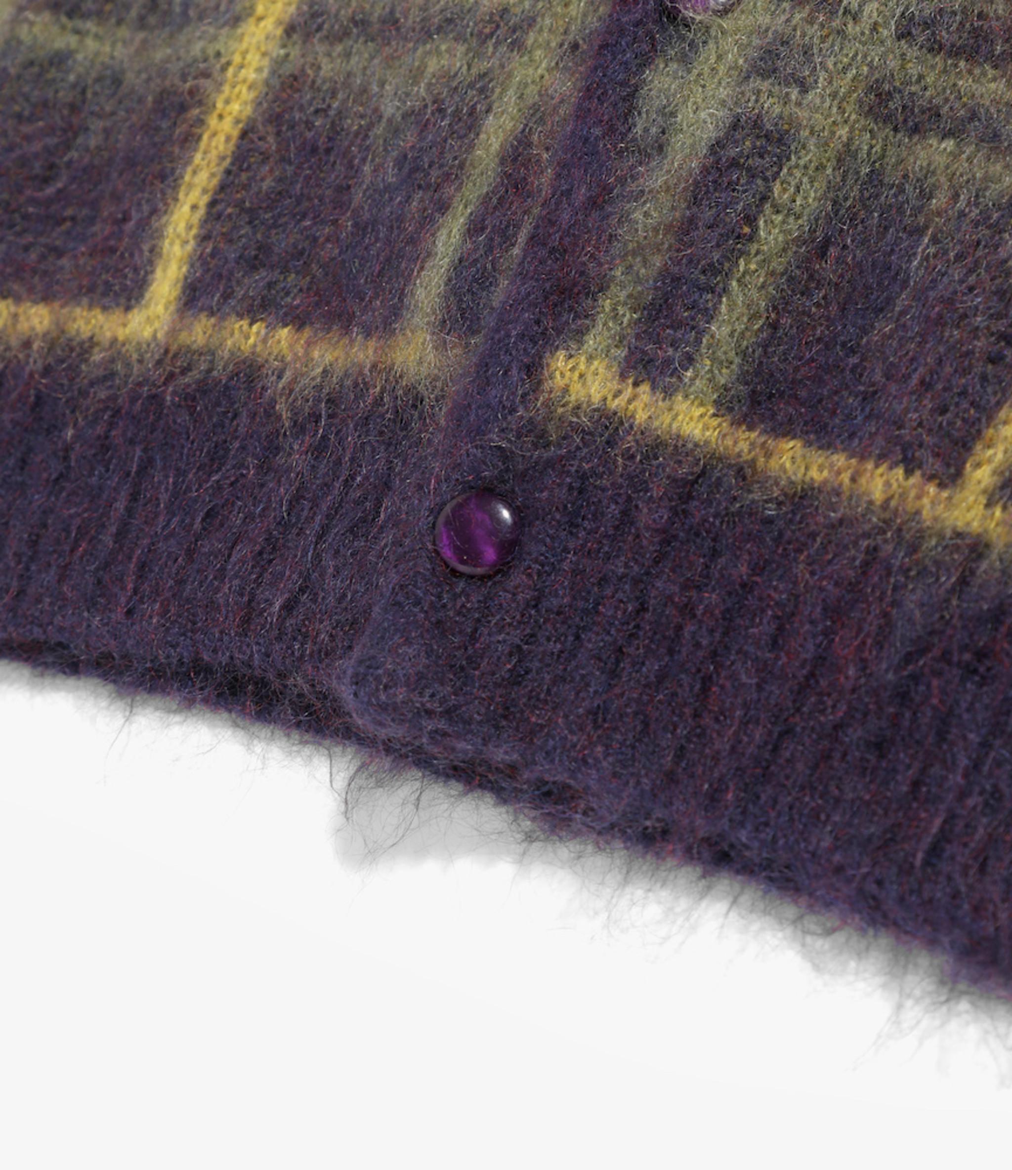Needles Mohair Cardigan - Plaid