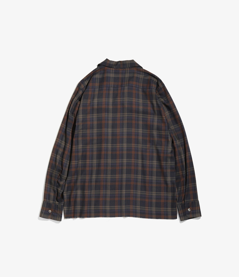 Needles C.O.B. Classic Shirt - R/Pe Plaid Twill - NVY