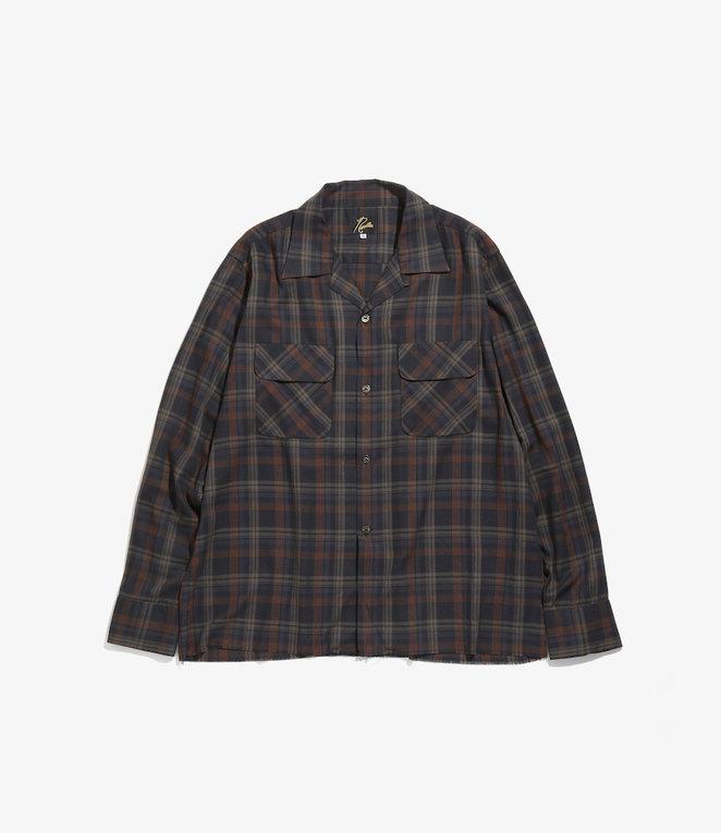 Needles C.O.B. Classic Shirt - R/Pe Plaid Twill - NVY