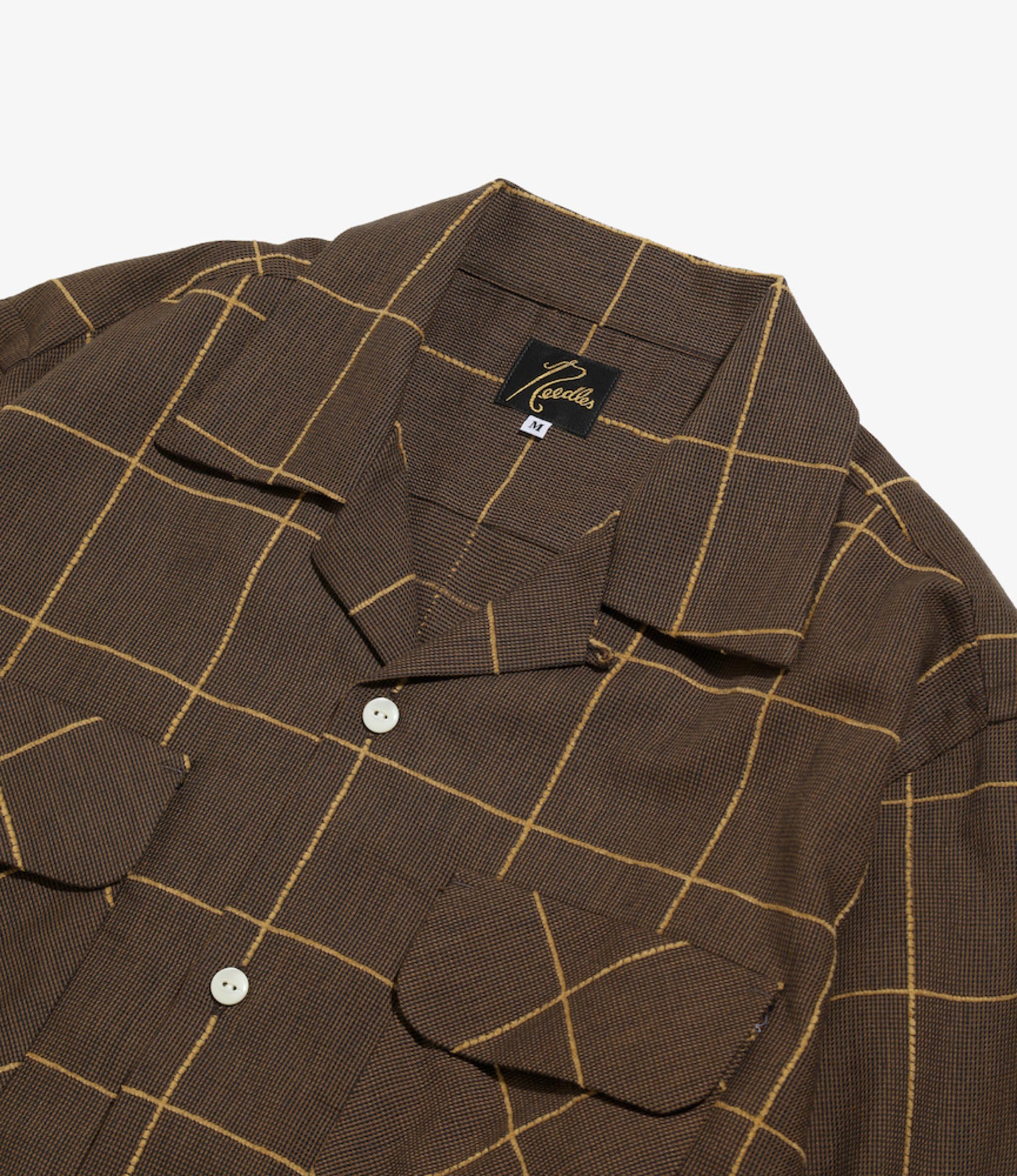 Needles C.O.B. Classic Shirt -C/Pe/R Plaid Twill - BRN