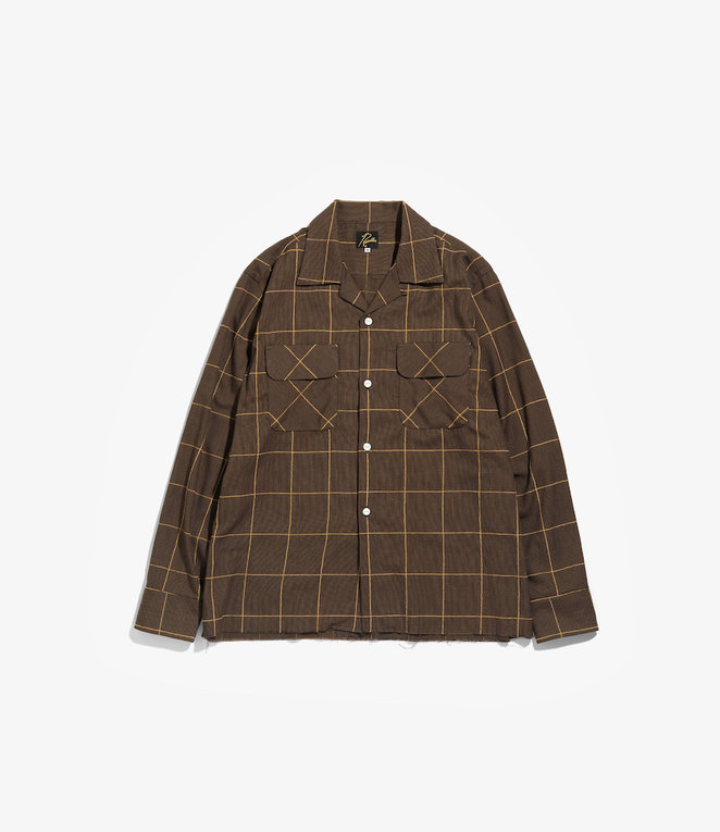 Needles C.O.B. Classic Shirt -C/Pe/R Plaid Twill - Brown