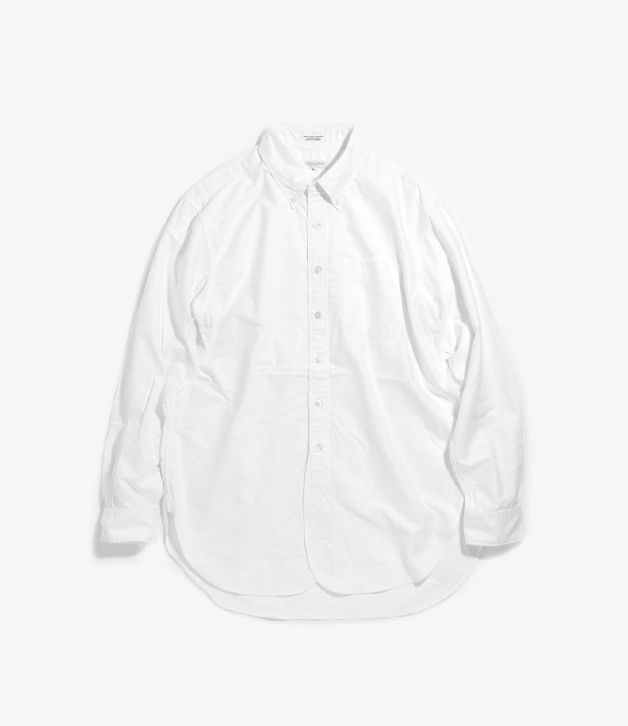 Engineered Garments 19 Century BD Shirt - White Cotton Oxford