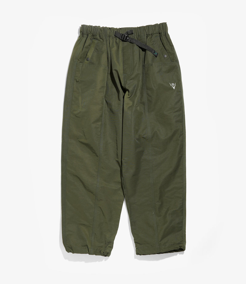South2 West8 Belted Center Seam Pant - Cotton/Nylon Grosgrain - Olive