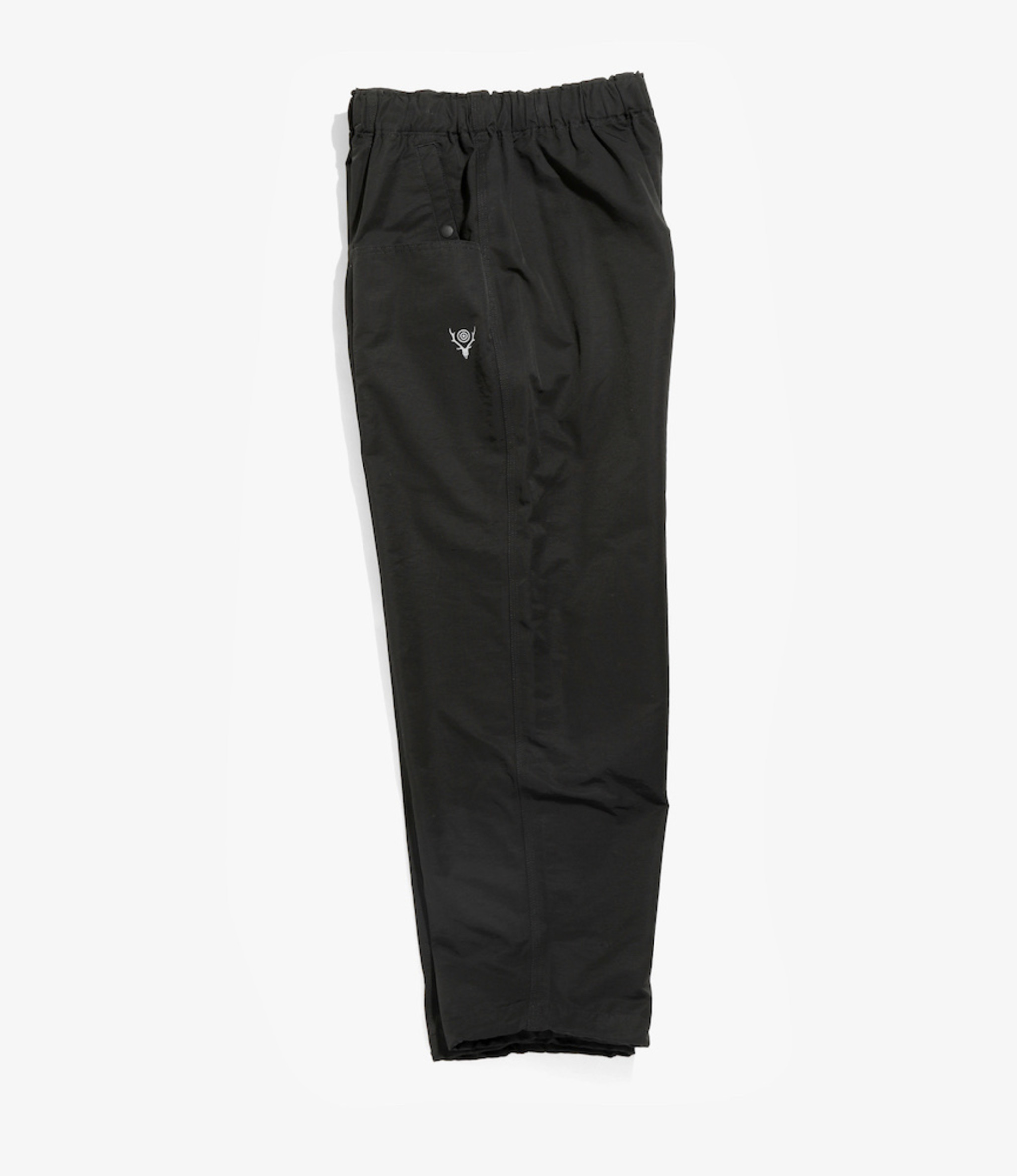 South2 West8 Belted Center Seam Pant - Cotton/Nylon Grosgrain - Black