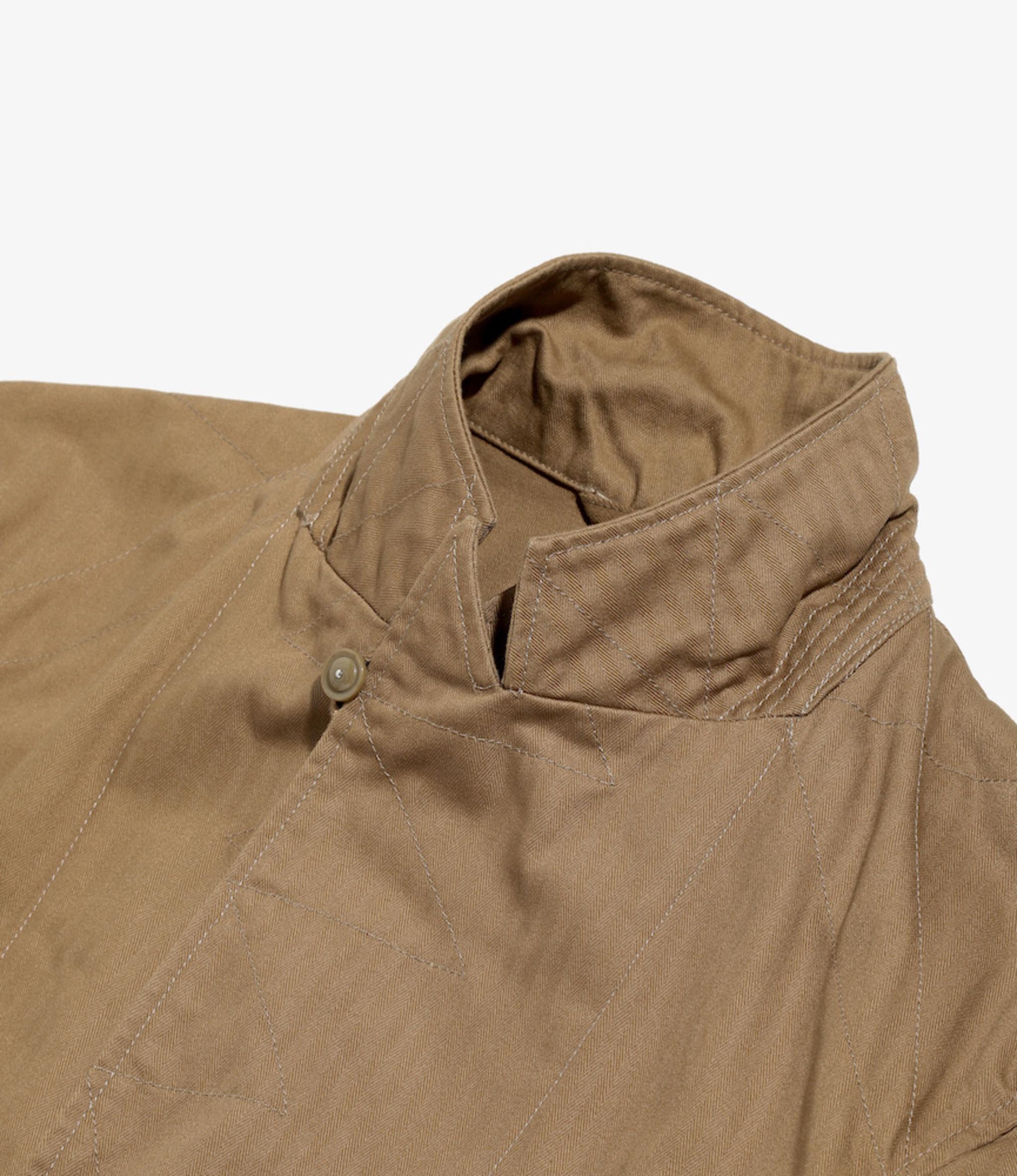 Engineered Garments Bedford Jacket - Brown Cotton Herringbone Twill