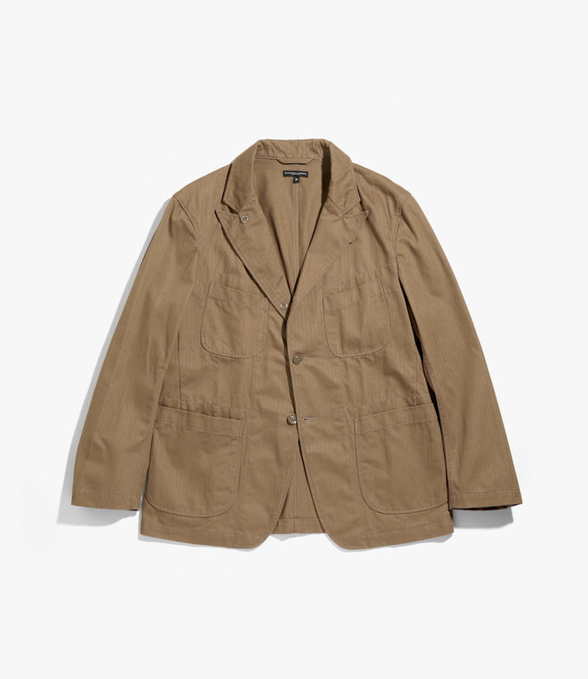 Engineered Garments Bedford Jacket - Brown Cotton Herringbone Twill