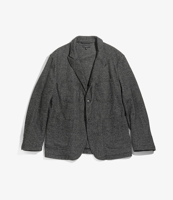 Engineered Garments NB Jacket - Grey Wool Blend Homespun