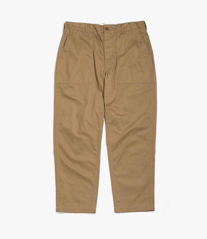 Engineered Garments Fatigue Pant - Brown Cotton Herringbone Twill