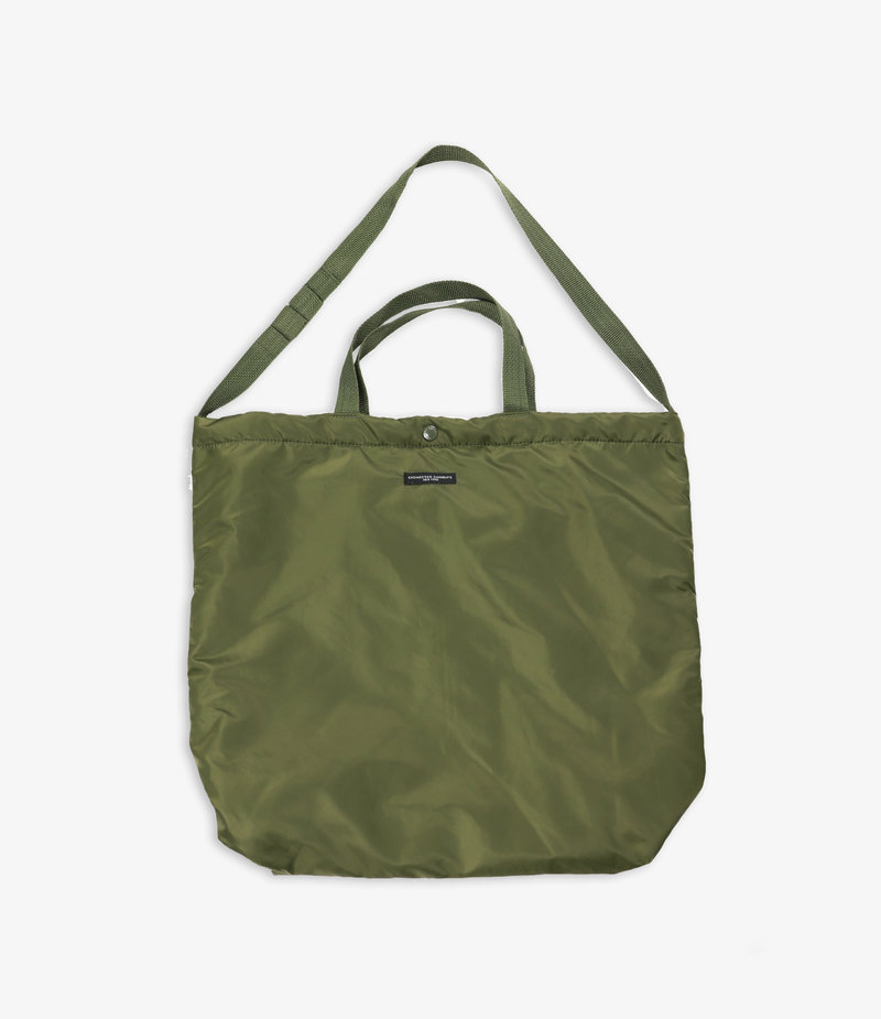 Engineered Garments Carry All Tote - Olive Flight Satin Nylon