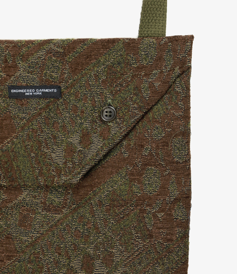 Engineered Garments Shoulder Pouch - Olive/Brown Chenille