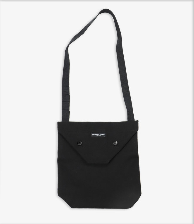 Engineered Garments Shoulder Pouch - Black Polyester Fake Melton
