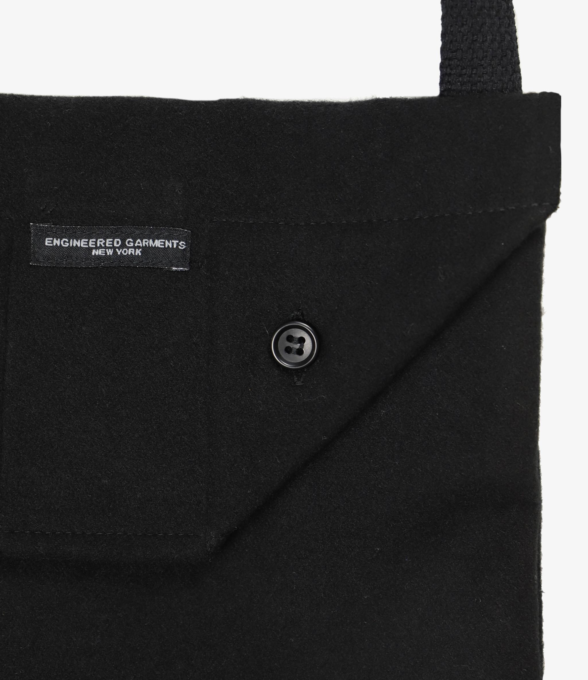 Engineered Garments Shoulder Pouch - Black Polyester Fake Melton