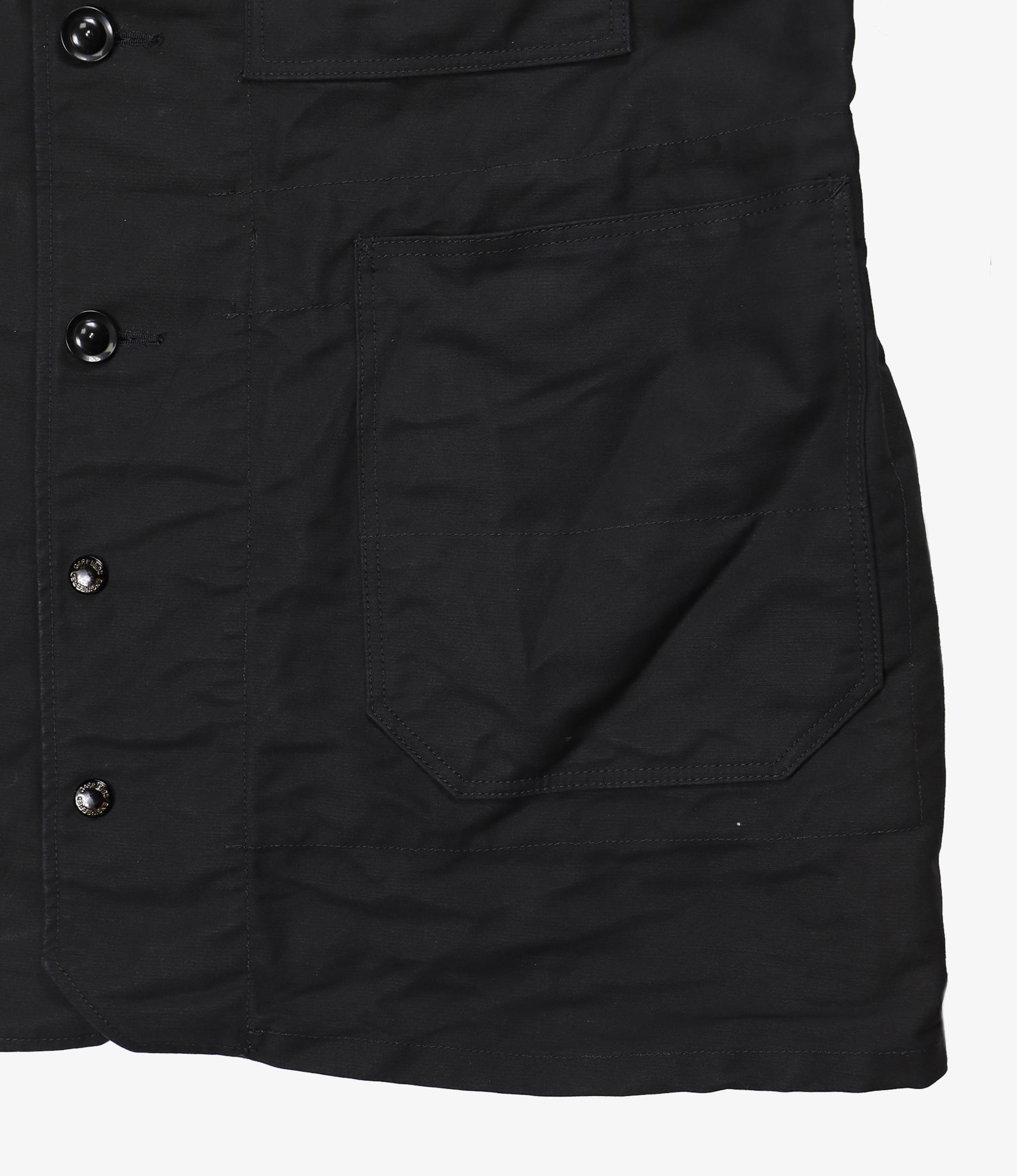 Engineered Garments Long Logger Jacket - Black Cotton Double Cloth