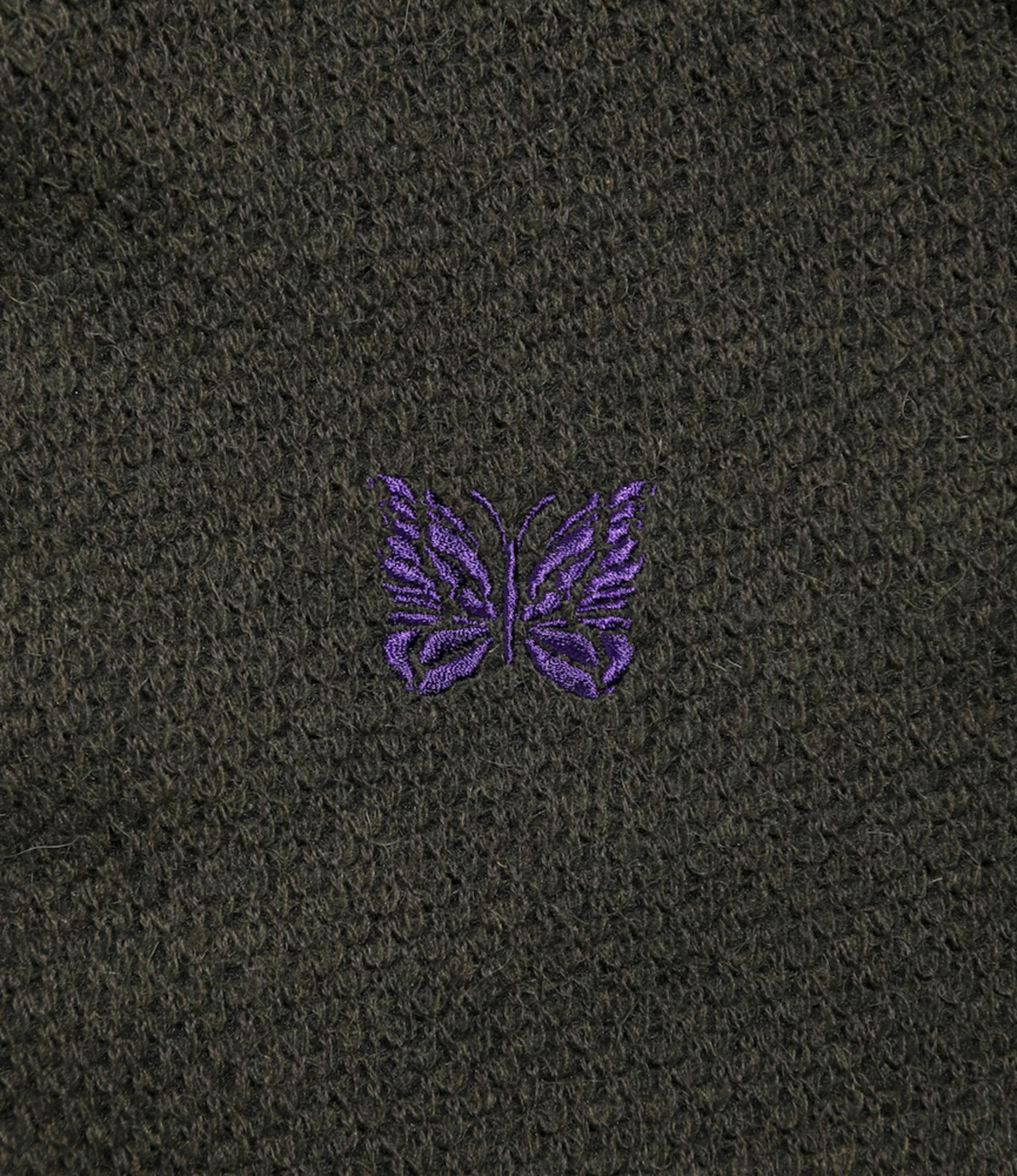 Needles V Neck Cardigane - Pique Knit - OLV