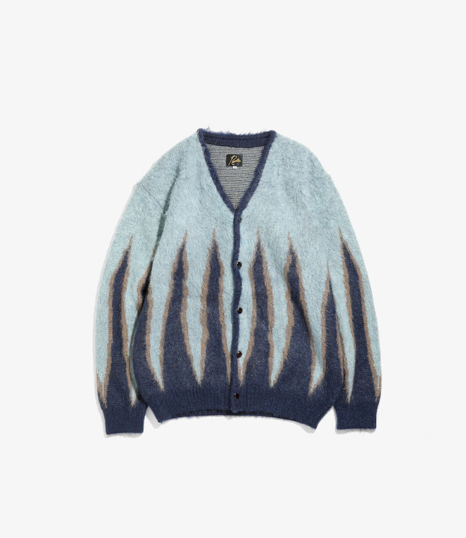 Needles Mohair Cardigan - Flame - Navy