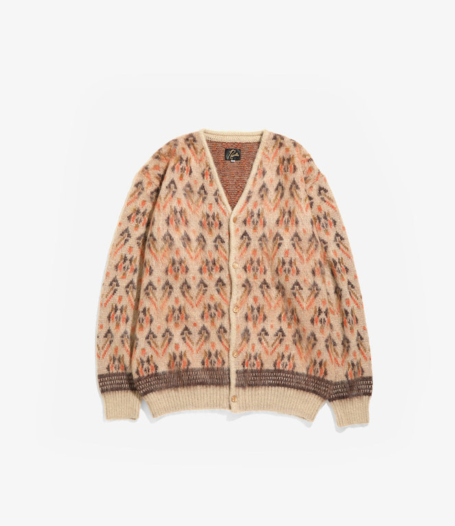 Needles Mohair Cardigan - Triangle - Beige