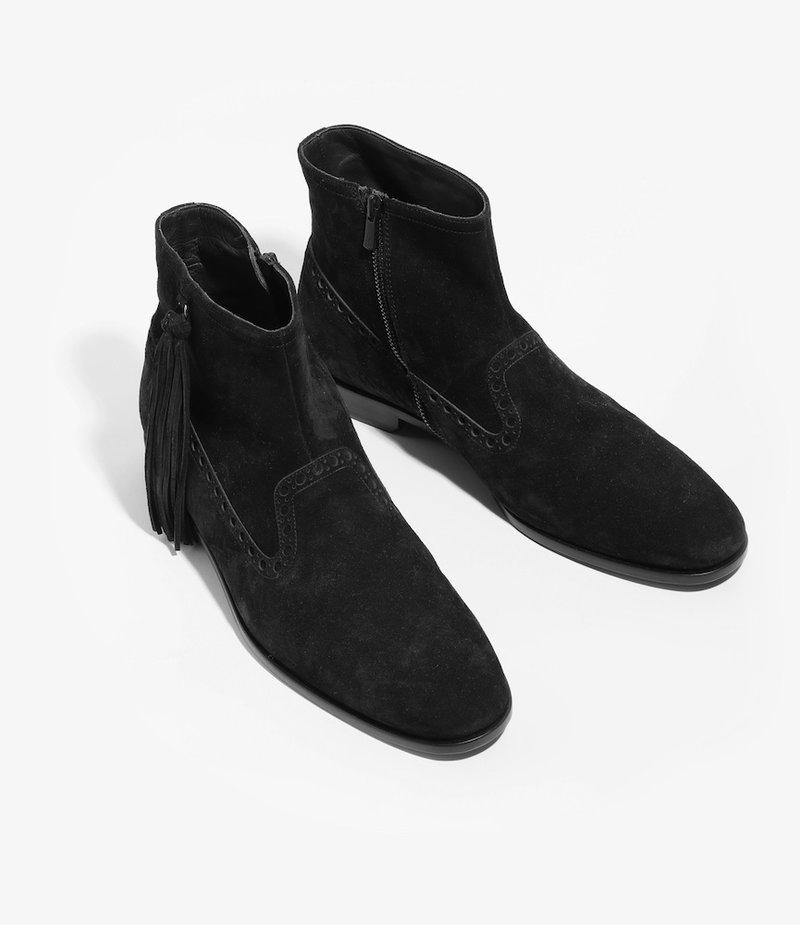 Nepco Medalion Boot with Tassel Fringe - Black