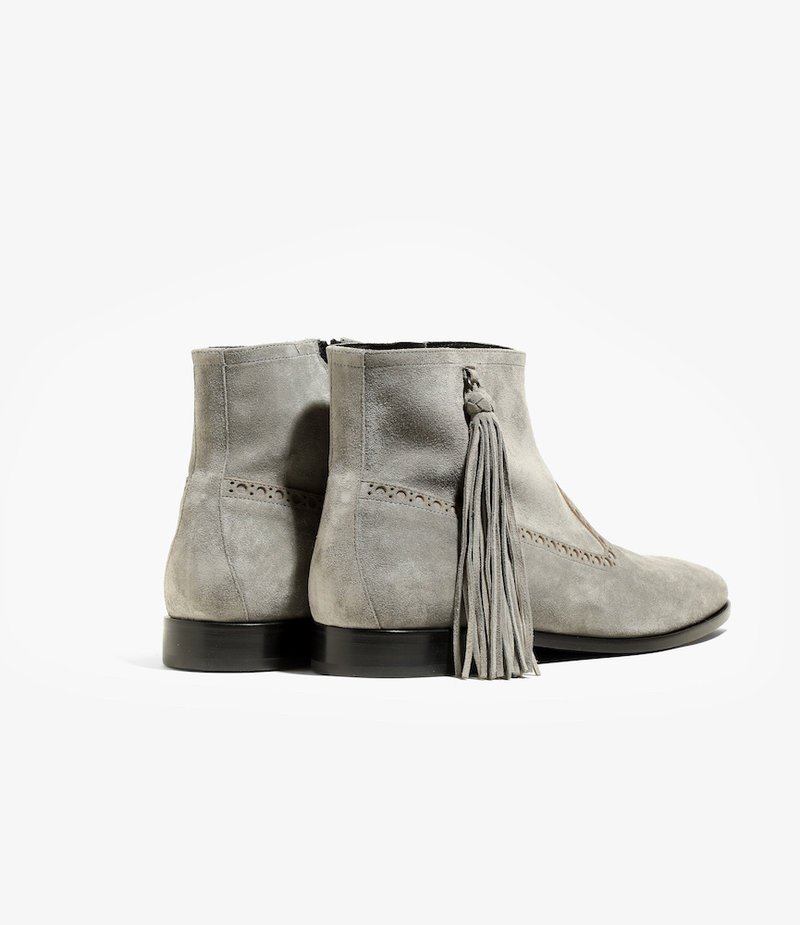 Nepco Medalion Boot with Tassel Fringe - Grey