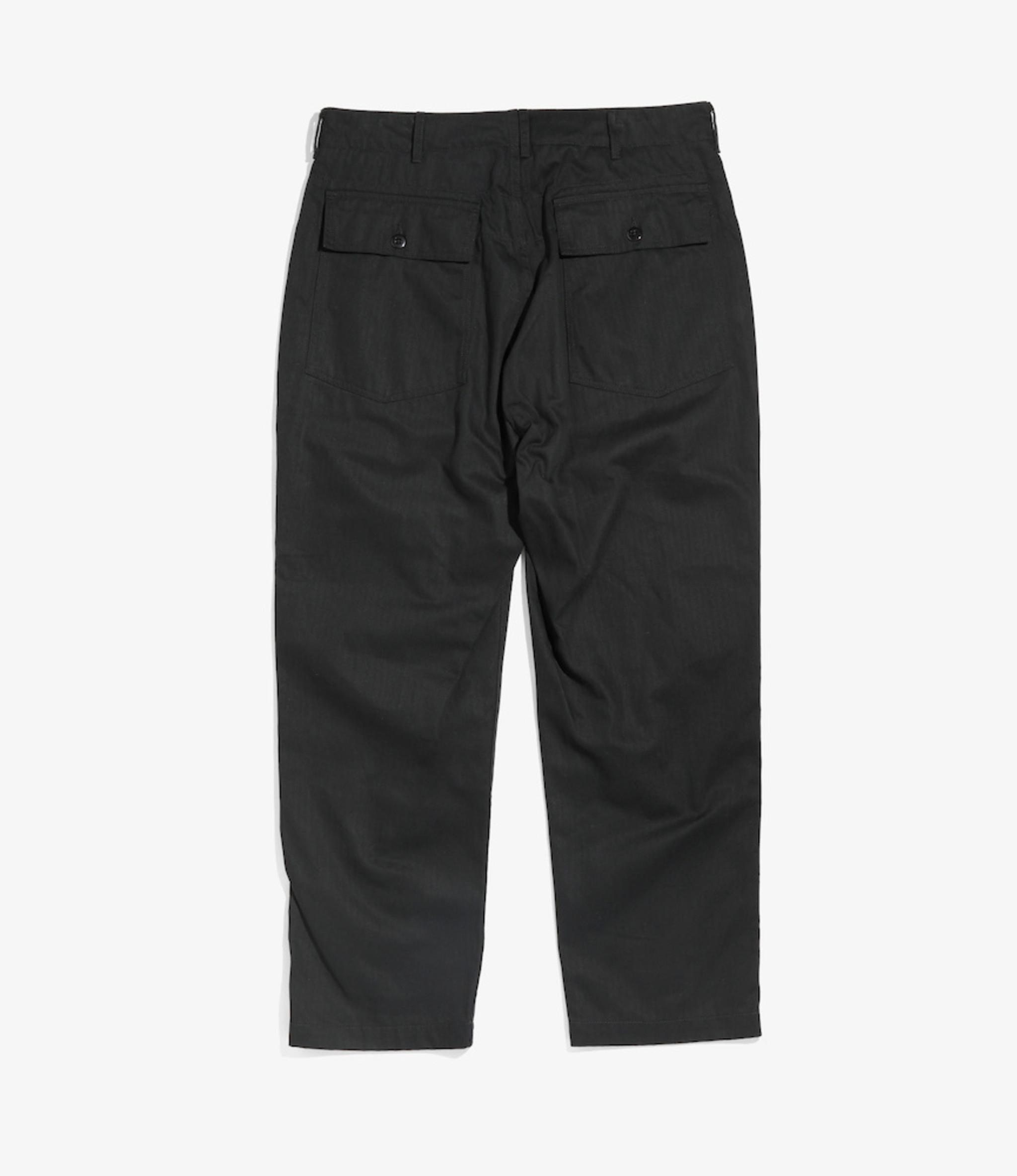 Engineered Garments Fatigue Pant - Black Cotton Heringbone Twill