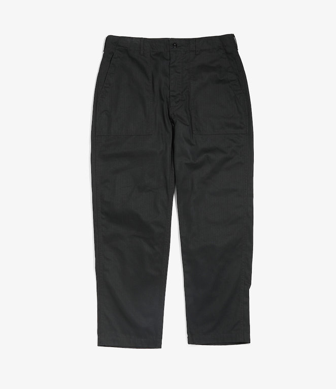 Engineered Garments Fatigue Pant - Black Cotton Heringbone Twill