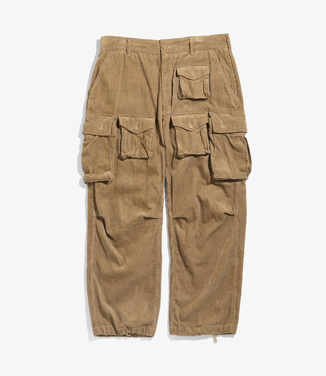 Engineered Garments FA Pant - Khaki 8W Corduroy