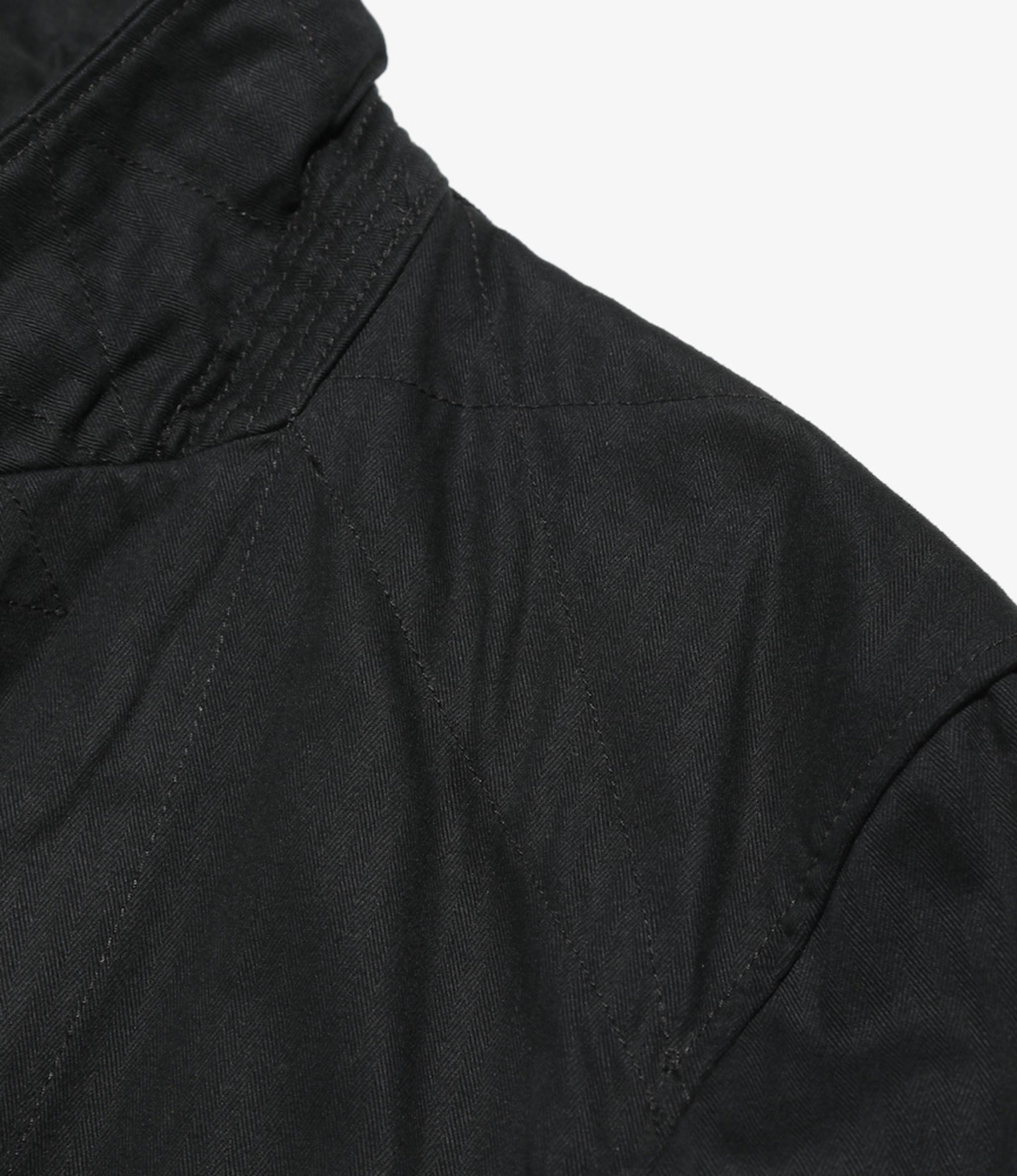 Engineered Garments Bedford Jacket - Black Cotton Herringbone Twill