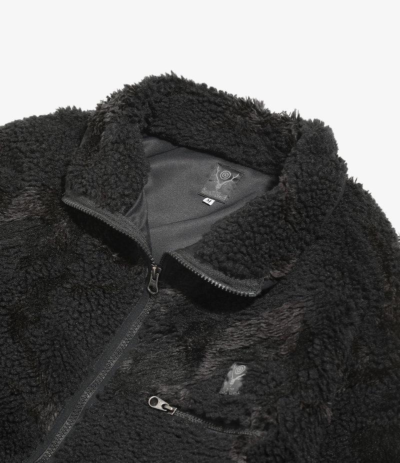 South2 West8 Piping Jacket - Boa Jacquard - Black