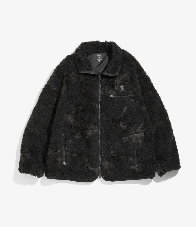 South2 West8 Piping Jacket - Boa Jq - Black