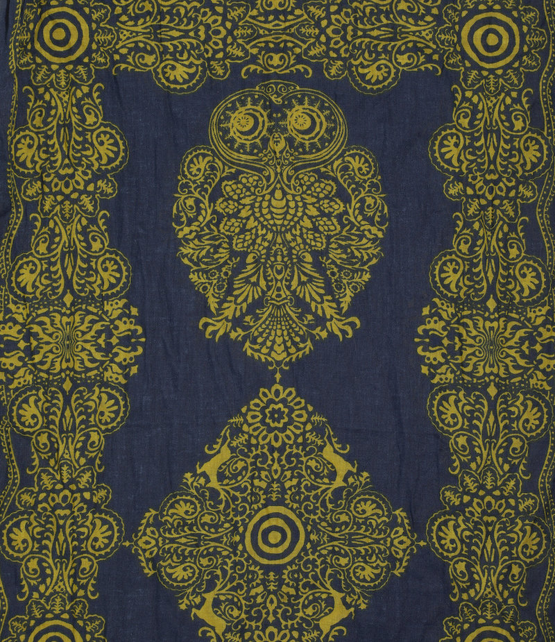 South2 West8 Stole - Cotton Gauze / Target & Paisley - Navy