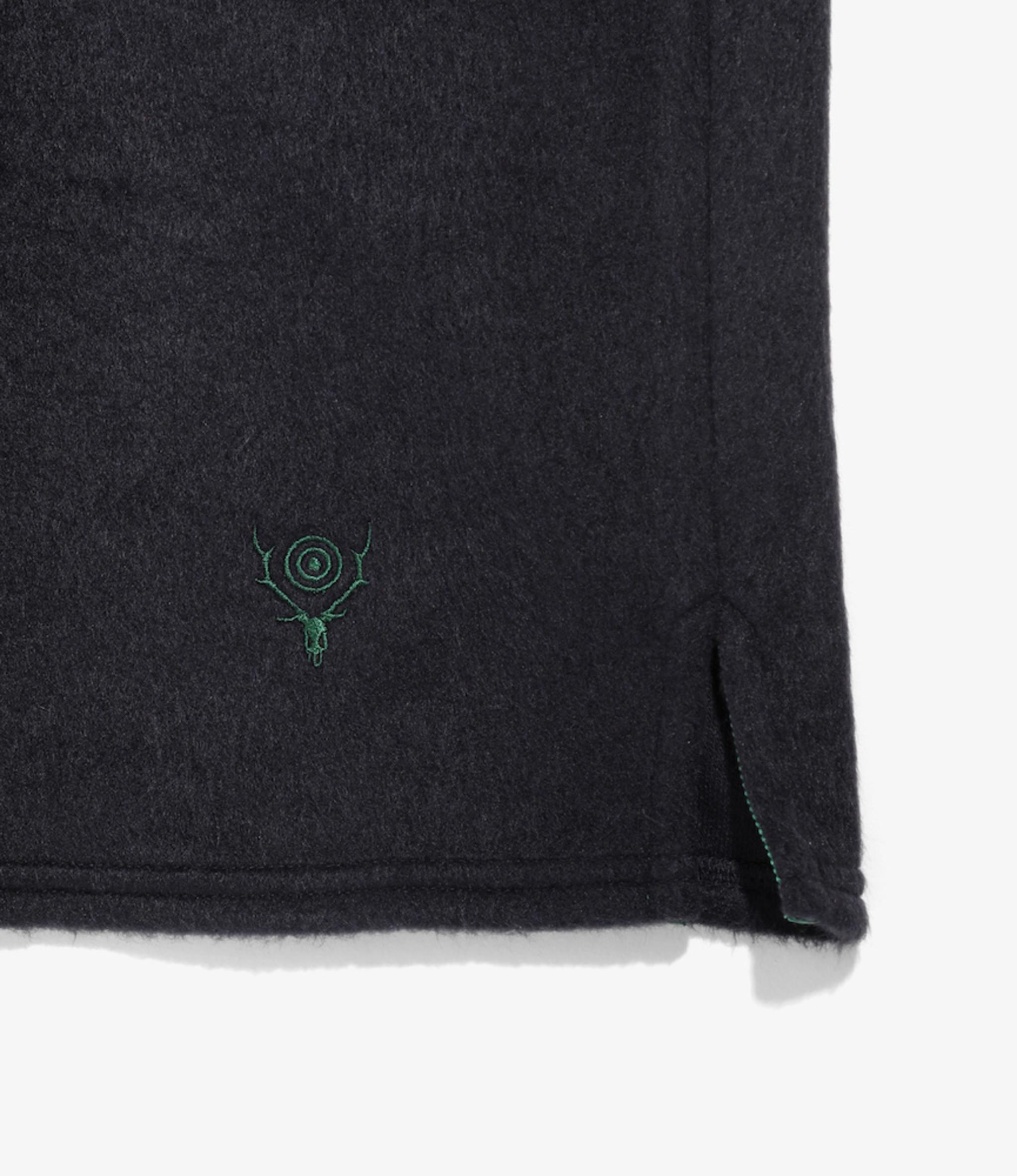 South2 West8 S.S. V Neck Shirt - Shaggy Knit - Nvy