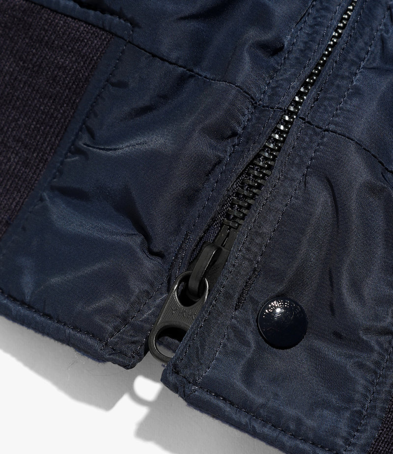 Engineered Garments SVR Jacket - Navy Flight Satin Nylon