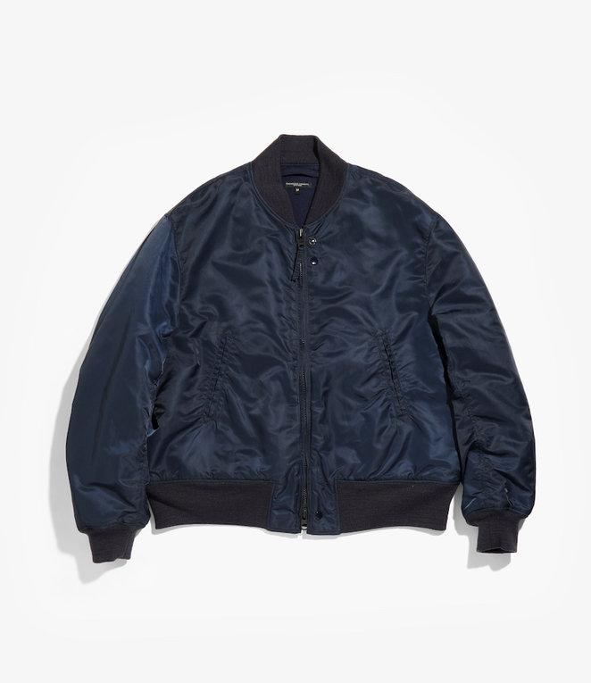 Engineered Garments SVR Jacket - Navy Flight Satin Nylon