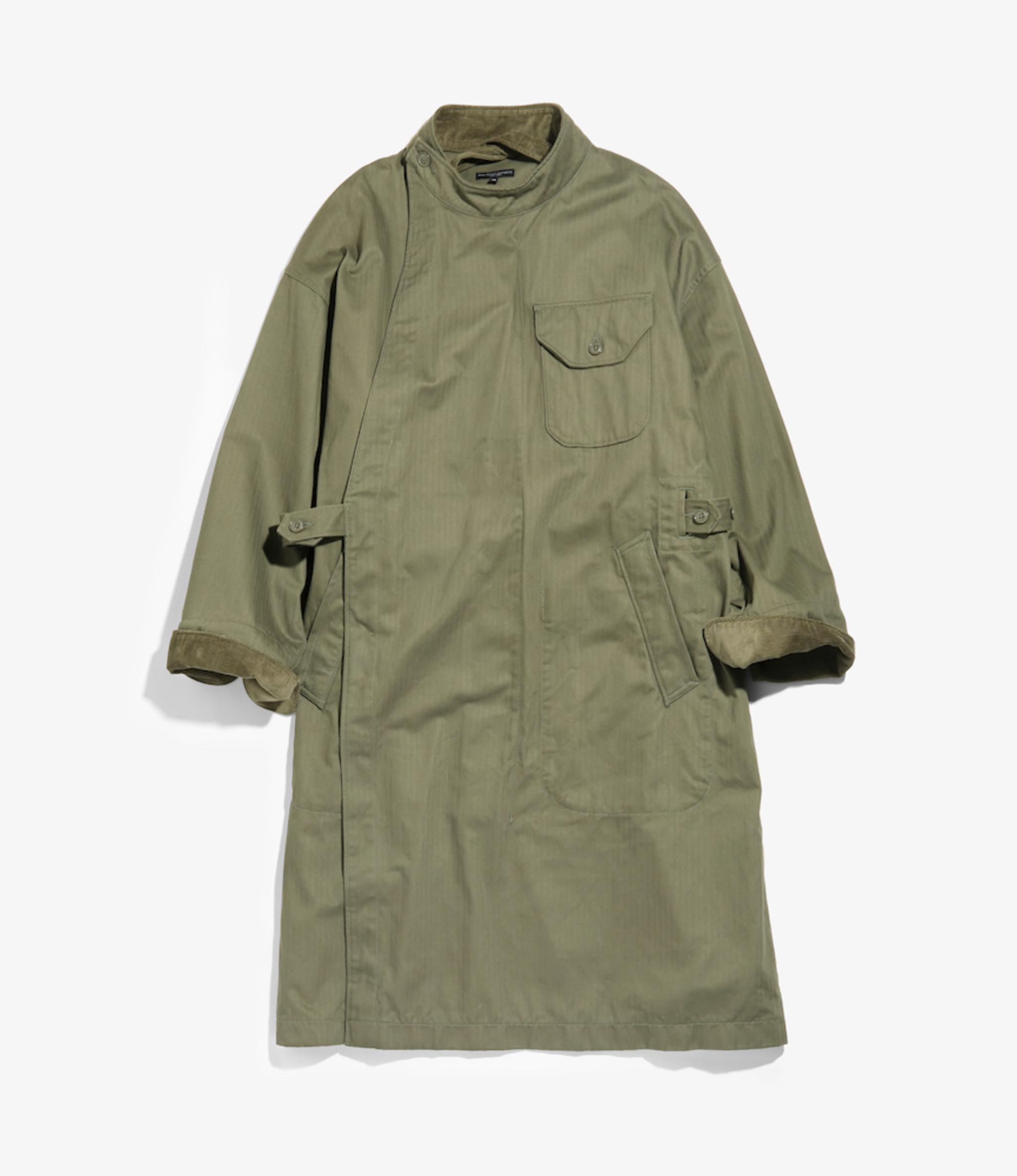 Engineered Garments MG Coat - Olive Cotton Herringbone Twill