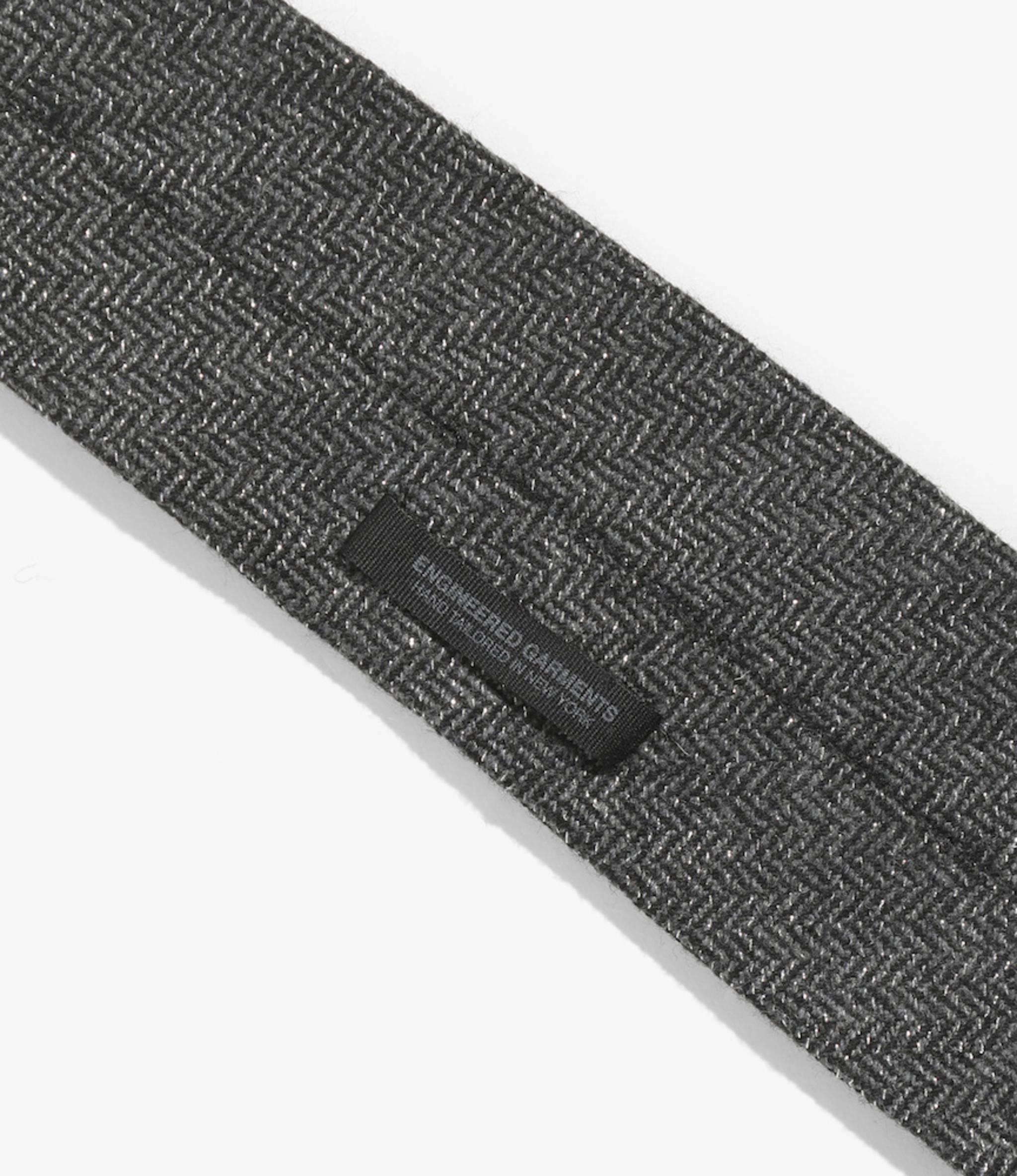Engineered Garments Neck Tie - Grey Wool Poly Lurex Herringbone