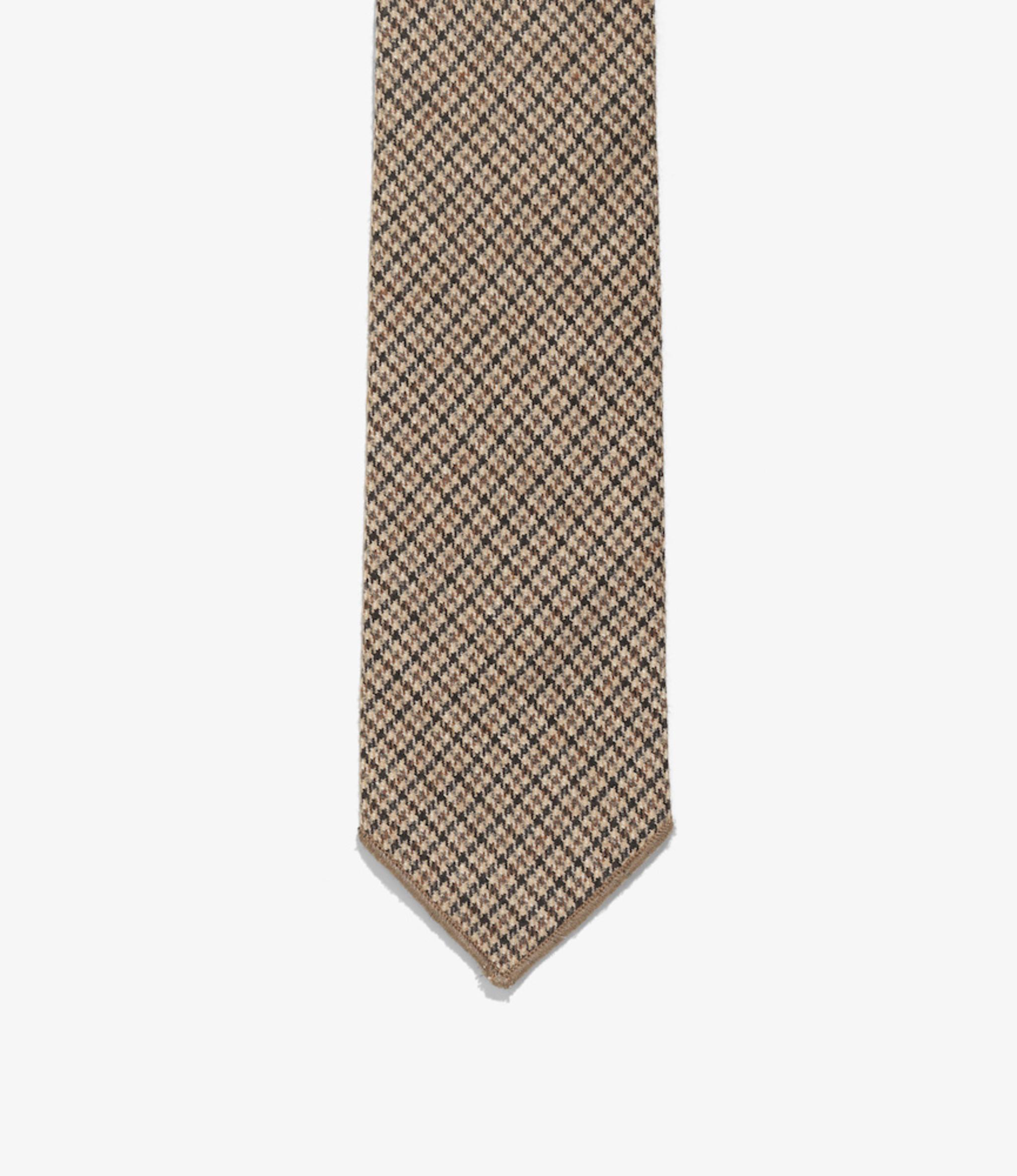 Engineered Garments Neck Tie - Brown Wool Poly Gunclub Check