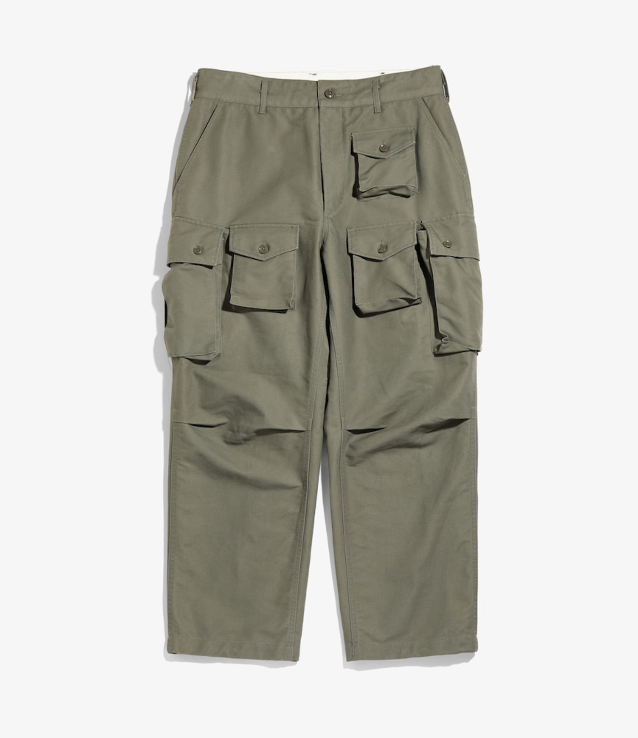 Engineered Garments FA Pant - Olive Cotton Double Cloth