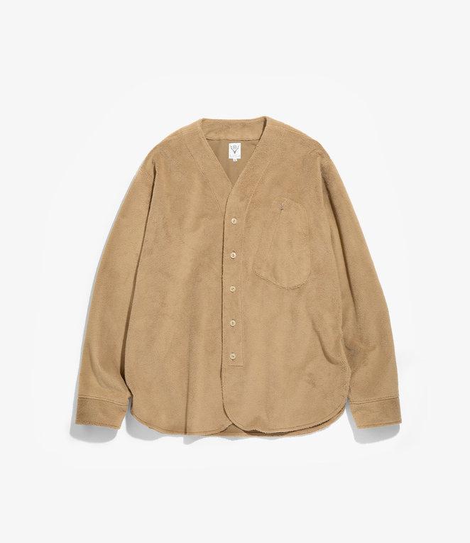 South2 West8 Scouting Shirt - Pe/Pu Fleece - Khaki