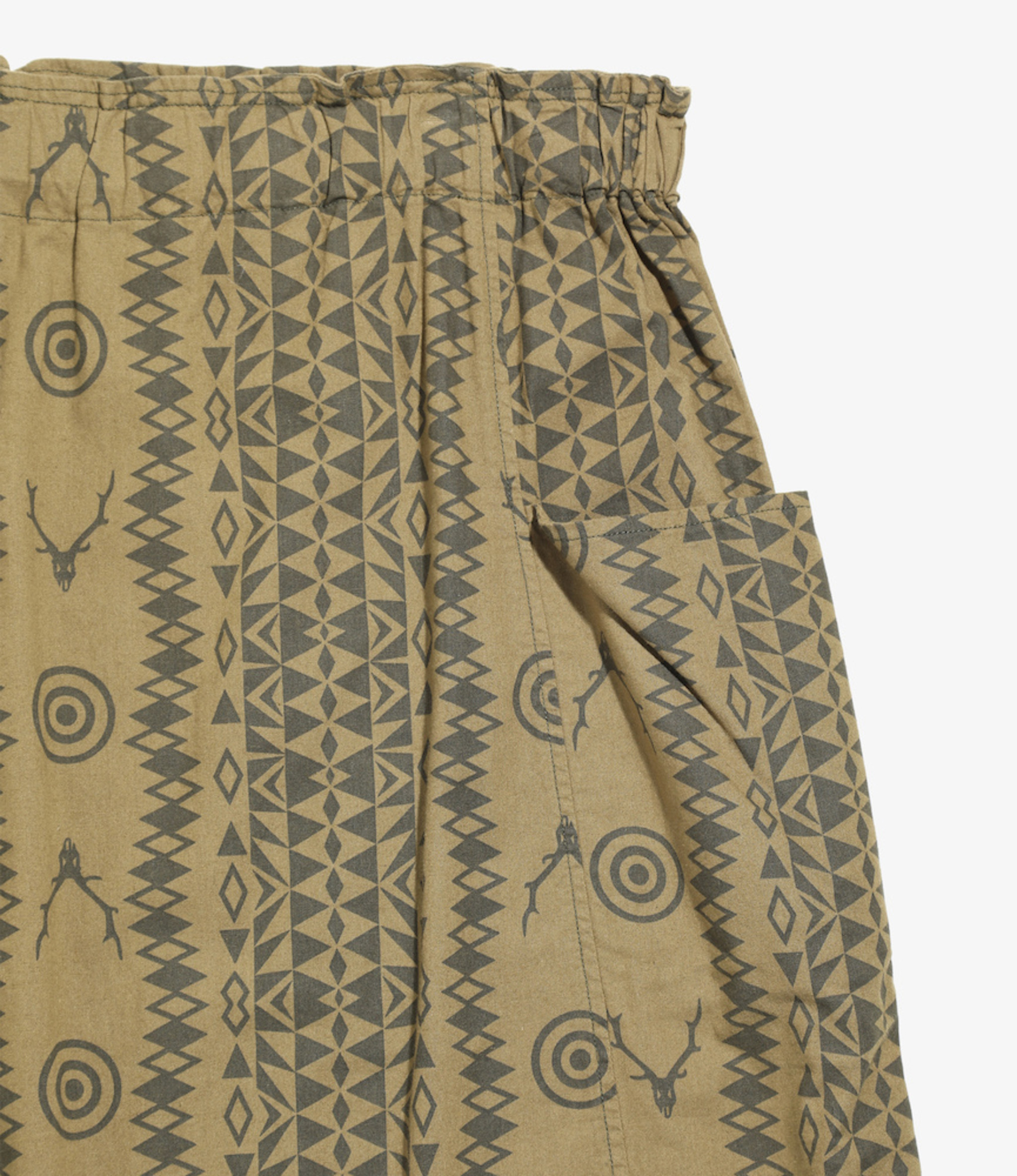South2 West8 Army String Skirt - Flannel Pt  - Skull&Target