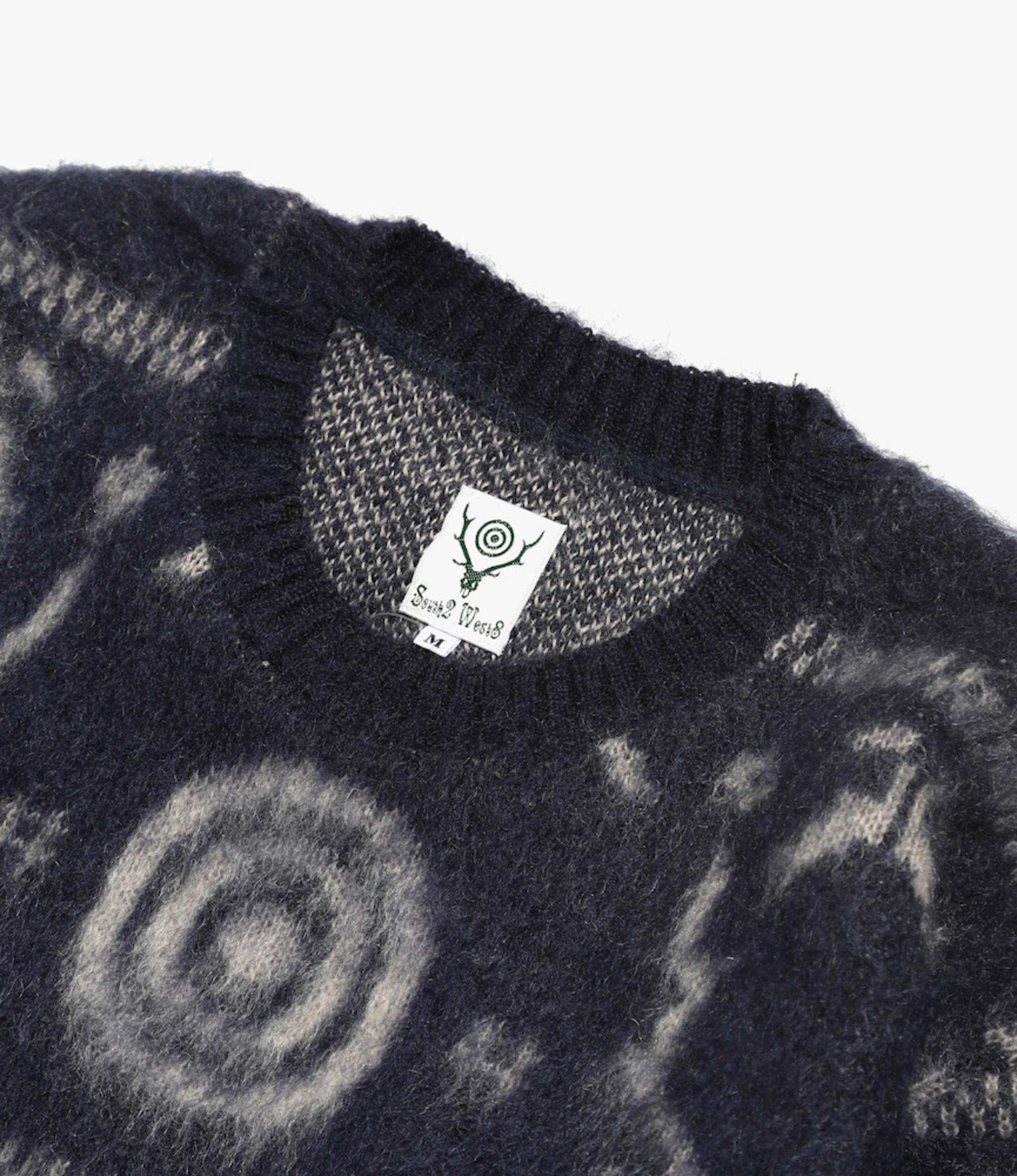 South2 West8 Loose Fit Sweater - S2W8  Nordic - Navy
