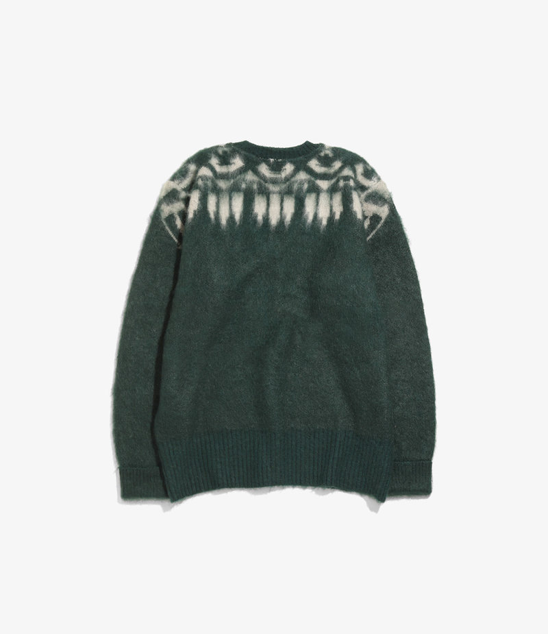South2 West8 Loose Fit V Neck Sweater -  S2W8 Aztec - Green