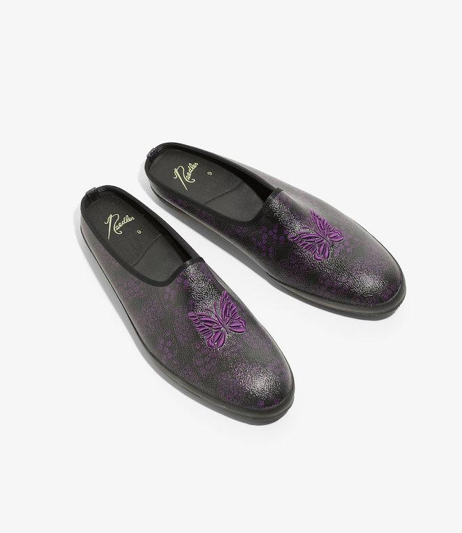 Needles Sneaker Mule - Papillon PVC - Black