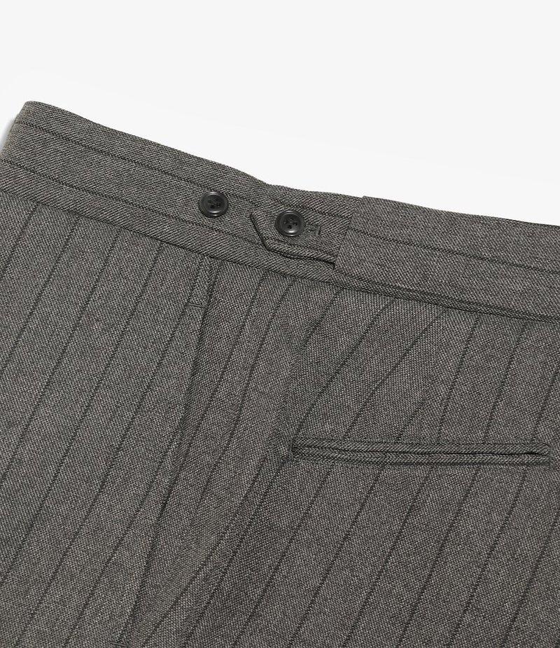 Needles Side Tab Trouser - Stripe Poly Cloth - Grey