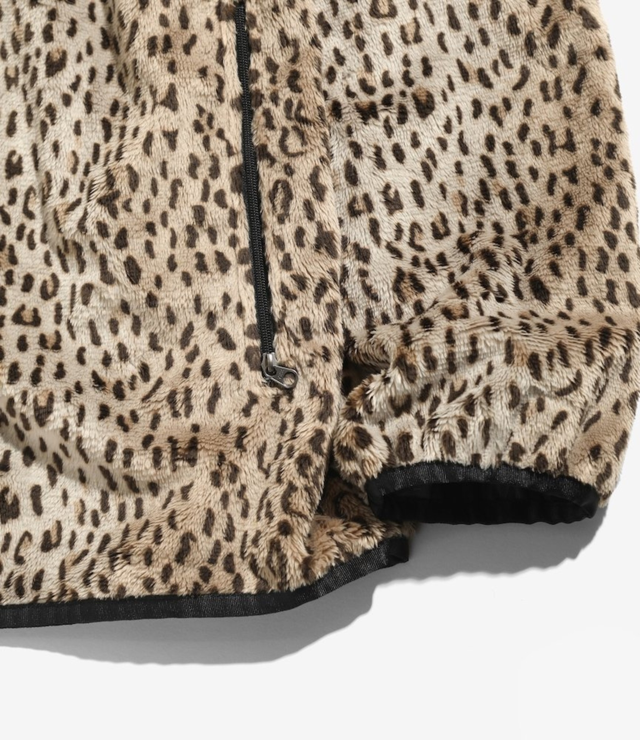 Needles W.U. Piping Jacket - Faux Fur - Leopard