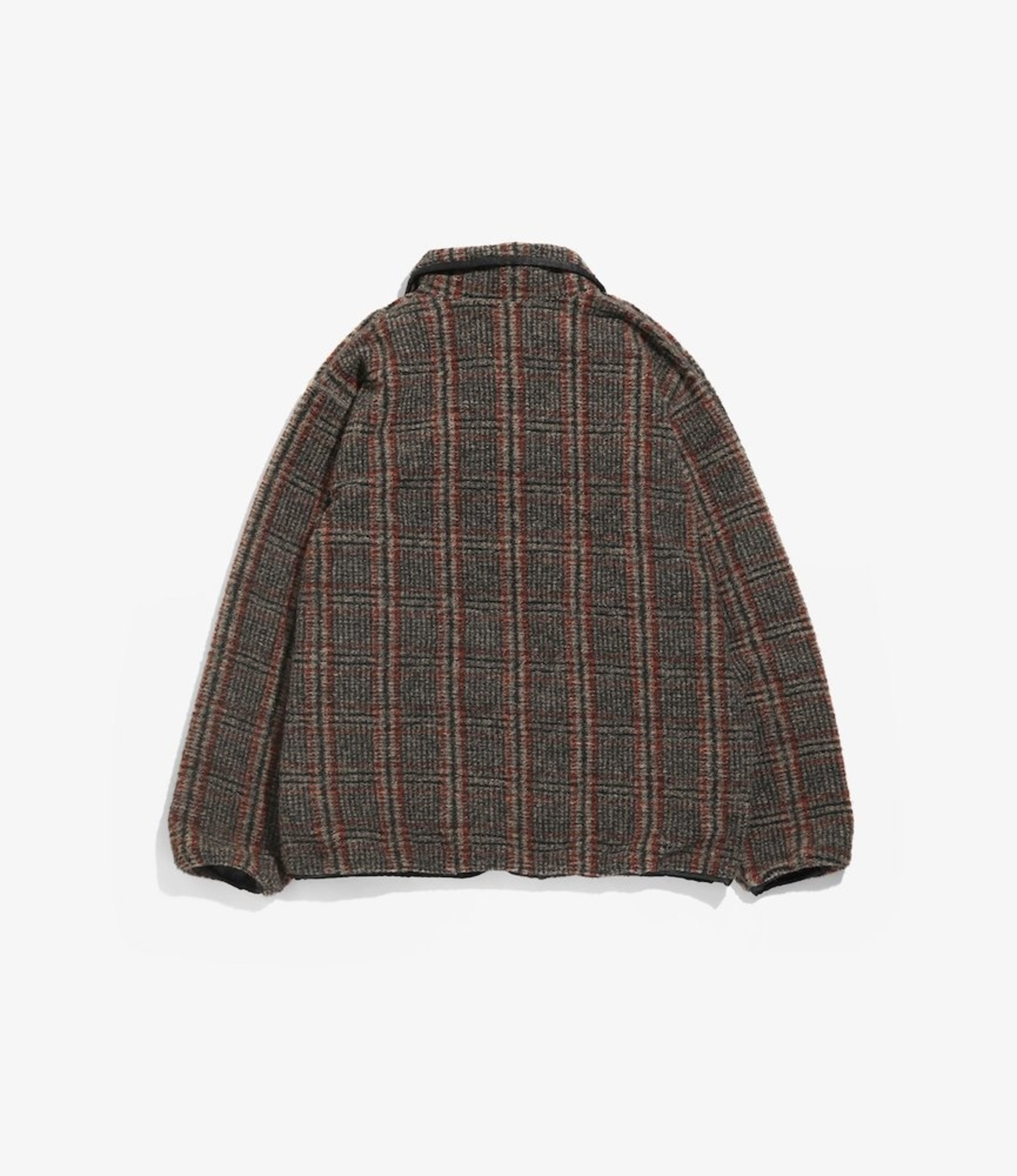 Needles W.U. Piping Jacket - Plaid Knit Jacquard - Beige