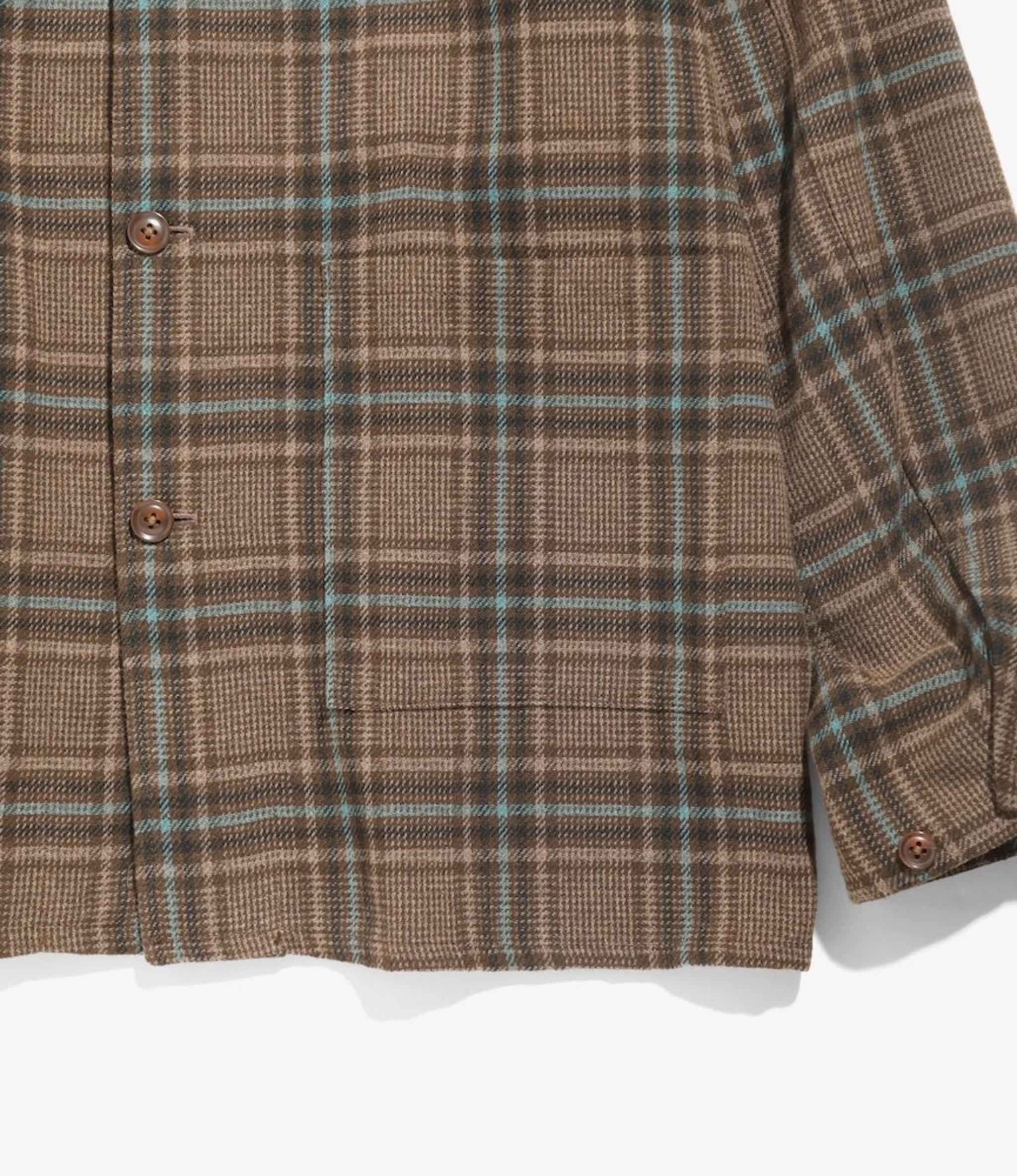 Needles D.N. Coverall - Plaid Tweed - Brown