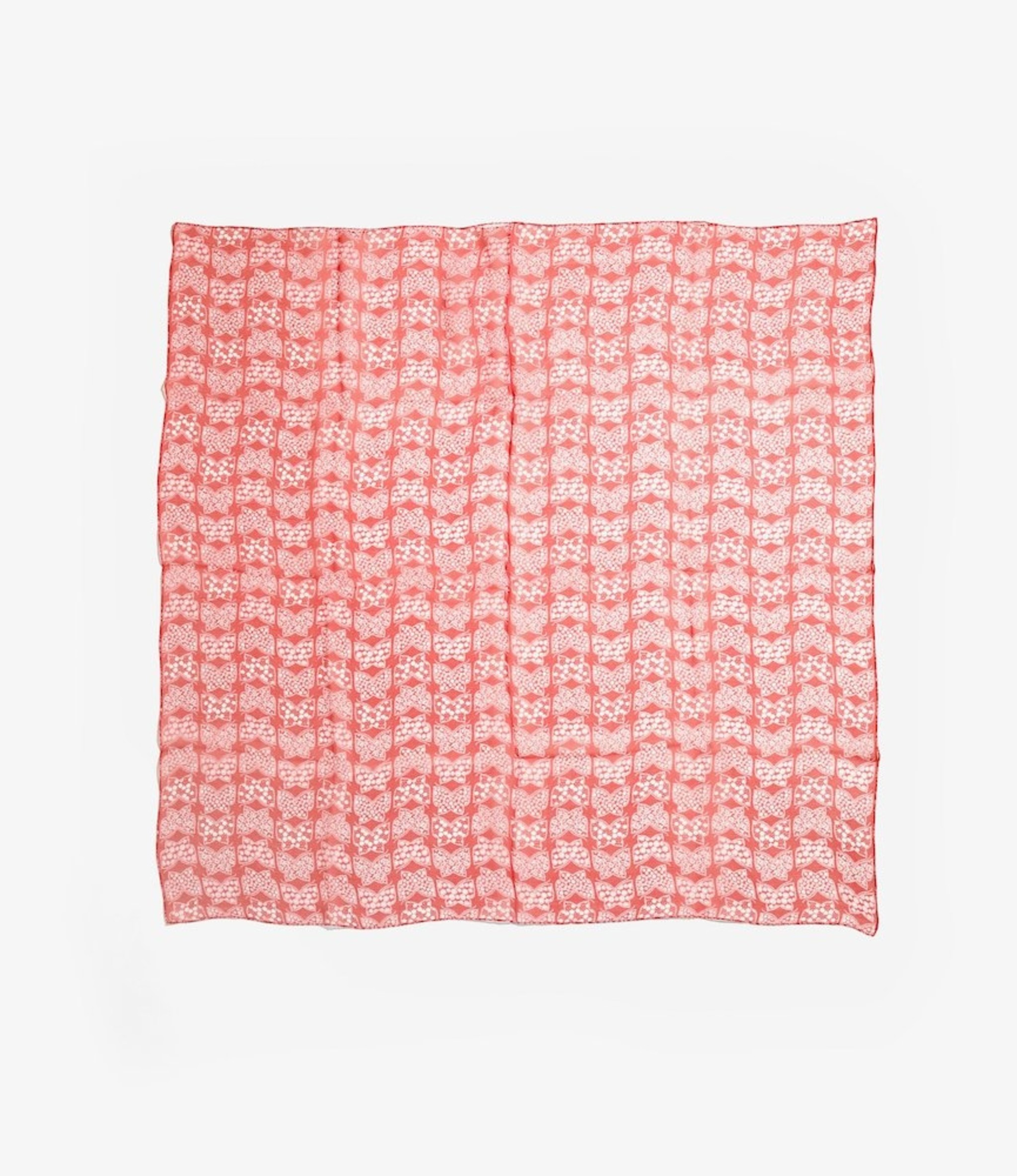 Needles Scarf - Silk Crepe - Papillon - Red