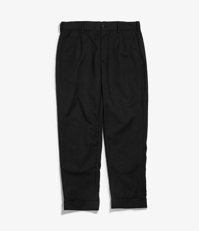 Engineered Garments Andover Pant - Black Worsted Wool Gabardine