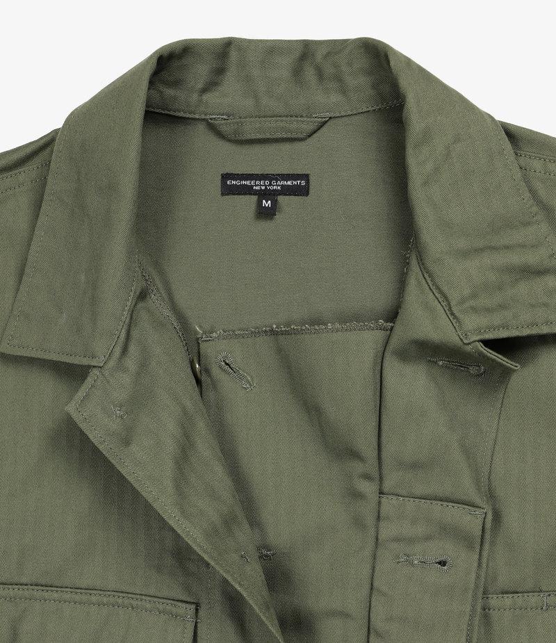 Engineered Garments BDU Jacket - Olive Cotton Herringbone Twill